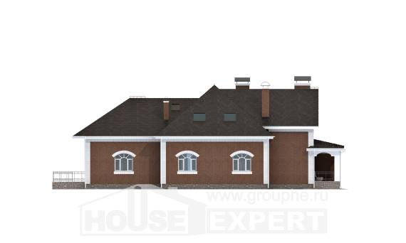 400-003-R Two Story House Plans with mansard, luxury Ranch