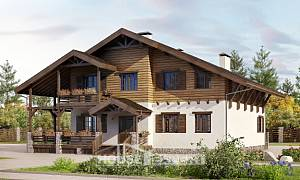 260-001-R Two Story House Plans with mansard roof, big Design House