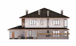 305-001-R Two Story House Plans with garage in back, classic House Building