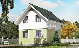 070-001-R Two Story House Plans with mansard, cozy Blueprints of House Plans