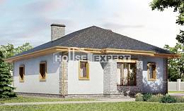 130-006-R One Story House Plans and garage, available Architect Plans