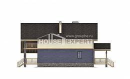 160-010-R Two Story House Plans with mansard, modern Plan Online