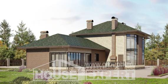 305-003-R Two Story House Plans, cozy Architect Plans