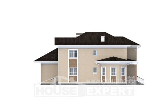 335-001-L Two Story House Plans with garage, cozy Custom Home Plans Online