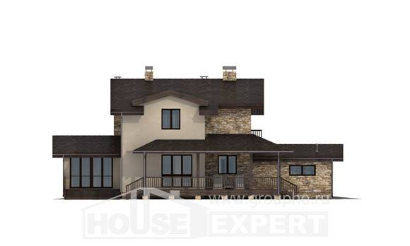 220-001-L Two Story House Plans with mansard with garage in front, cozy Home Plans
