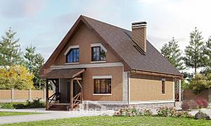 160-011-L Two Story House Plans and mansard, modest Design House