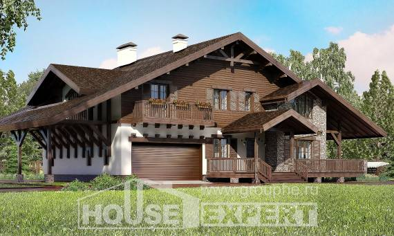 320-001-R Two Story House Plans with mansard with garage, best house Planning And Design