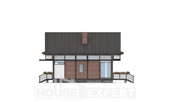 170-007-R Two Story House Plans and mansard, compact House Online