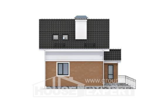 070-001-L Two Story House Plans with mansard roof, beautiful Ranch