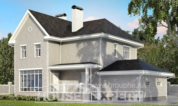 190-001-L Two Story House Plans and garage, a simple House Plans