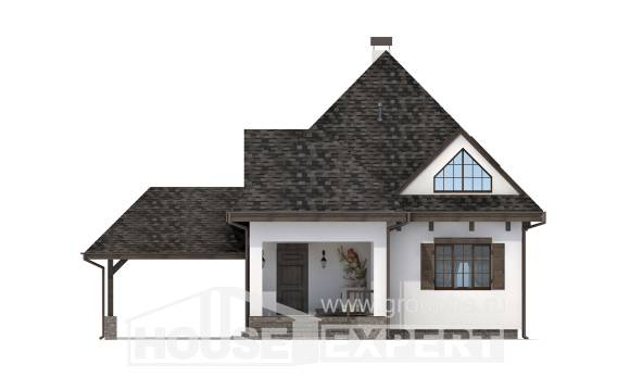 110-002-L Two Story House Plans with mansard roof and garage, a simple House Online
