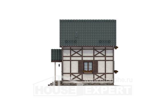 060-002-R Two Story House Plans and mansard, miniature Models Plans