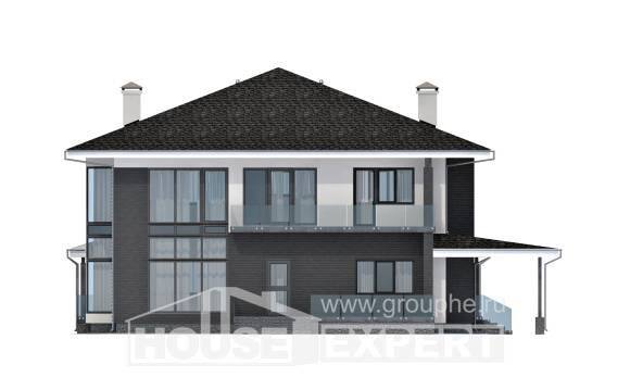 245-002-R Two Story House Plans with garage in front, beautiful Plans Free