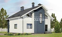 150-005-R Two Story House Plans and mansard, small Building Plan
