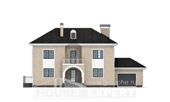 180-006-R Two Story House Plans with garage under, beautiful Design Blueprints