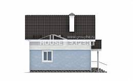 095-002-R Two Story House Plans with mansard, a simple Online Floor