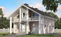 150-002-R Two Story House Plans and mansard with garage in front, modern House Plan