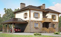 155-006-L Two Story House Plans and garage, a simple House Blueprints