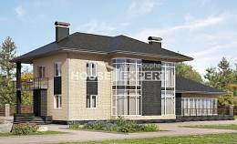 305-003-L Two Story House Plans, big Drawing House