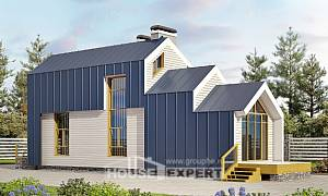 060-006-R Two Story House Plans with mansard roof, little Custom Home