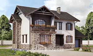 200-005-R Two Story House Plans with garage in back, spacious Plan Online