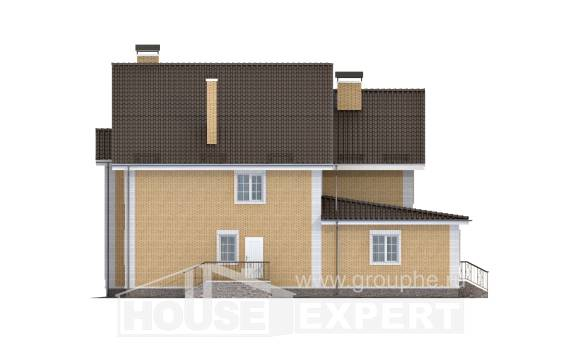 320-003-L Two Story House Plans, modern Tiny House Plans