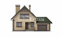 160-007-R Two Story House Plans with mansard roof with garage in back, a simple Custom Home