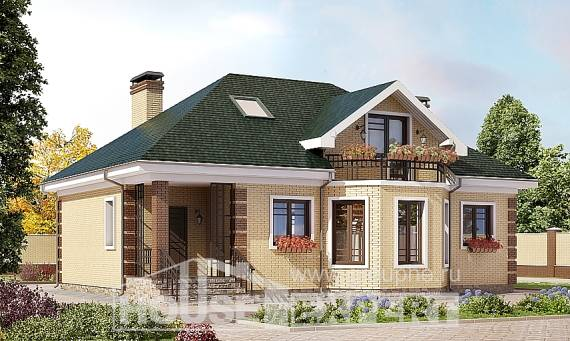 150-013-L Two Story House Plans with mansard roof, a simple Plans To Build