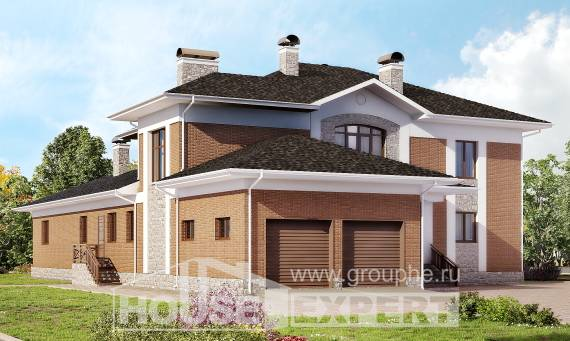 520-002-L Three Story House Plans with garage under, a huge Dream Plan