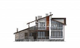 240-004-R Two Story House Plans with mansard and garage, best house Floor Plan