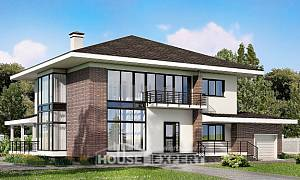 275-002-R Two Story House Plans and garage, luxury Home Plans