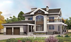 365-001-L Two Story House Plans with garage in back, a huge Architect Plans
