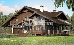 320-001-R Two Story House Plans with mansard with garage in front, cozy Floor Plan