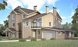555-001-L Three Story House Plans and mansard and garage, best house Woodhouses Plans