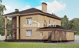 245-003-L Two Story House Plans and garage, luxury Architect Plans