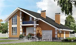 190-006-R Two Story House Plans with mansard with garage in back, beautiful Villa Plan