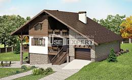 300-003-R Three Story House Plans with mansard roof with garage in back, cozy Woodhouses Plans