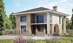 180-015-L Two Story House Plans, spacious Construction Plans