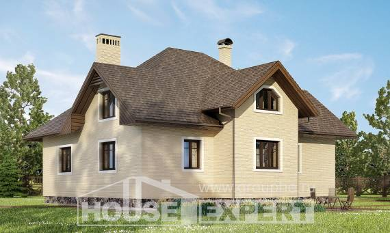 275-003-R Two Story House Plans with mansard roof and garage, best house House Online
