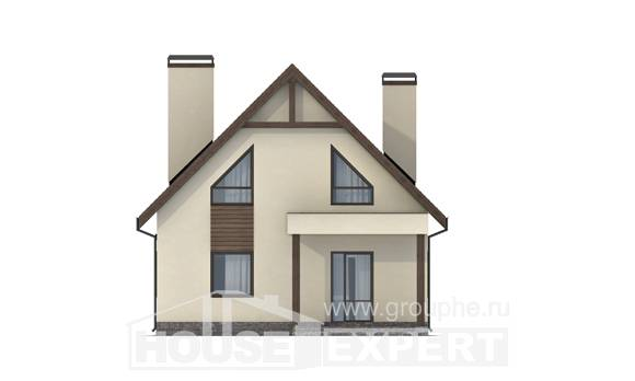 120-005-L Two Story House Plans and mansard and garage, the budget Planning And Design