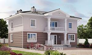 210-005-R Two Story House Plans, classic House Online