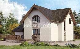 180-013-R Two Story House Plans with mansard roof with garage in front, beautiful Woodhouses Plans