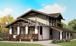 190-004-R Two Story House Plans with mansard roof with garage under, best house Construction Plans