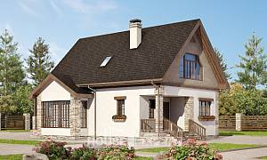 140-002-L Two Story House Plans with mansard roof, classic Blueprints