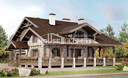 340-003-R Two Story House Plans with mansard roof with garage, a huge House Blueprints