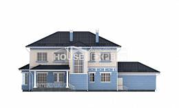 285-003-L Two Story House Plans and garage, a huge Architects House