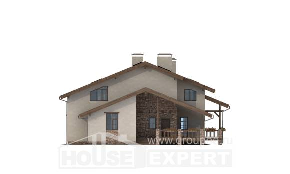 240-003-L Two Story House Plans with mansard roof, cozy Design House