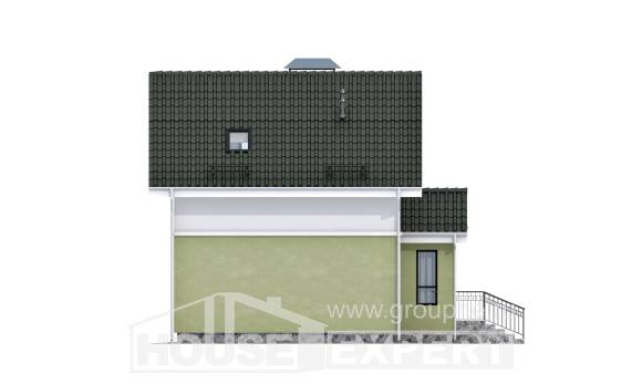 070-001-R Two Story House Plans with mansard, the budget House Blueprints