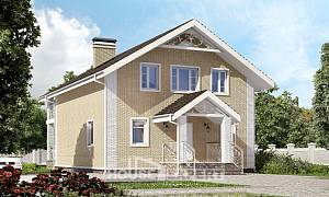 150-007-L Two Story House Plans with mansard roof, cozy Home Plans