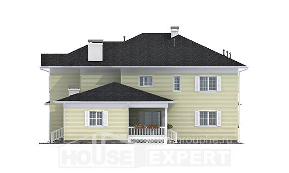 410-002-L Two Story House Plans with garage, a huge Dream Plan